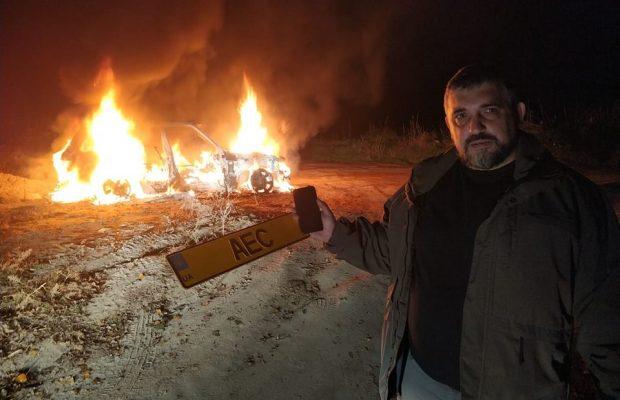 Ярошевич розповів, для чого він спалив автомобіль і скільки він коштував